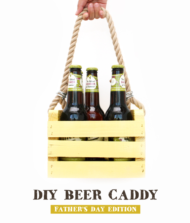 DIY Beer Caddy for Father's Day