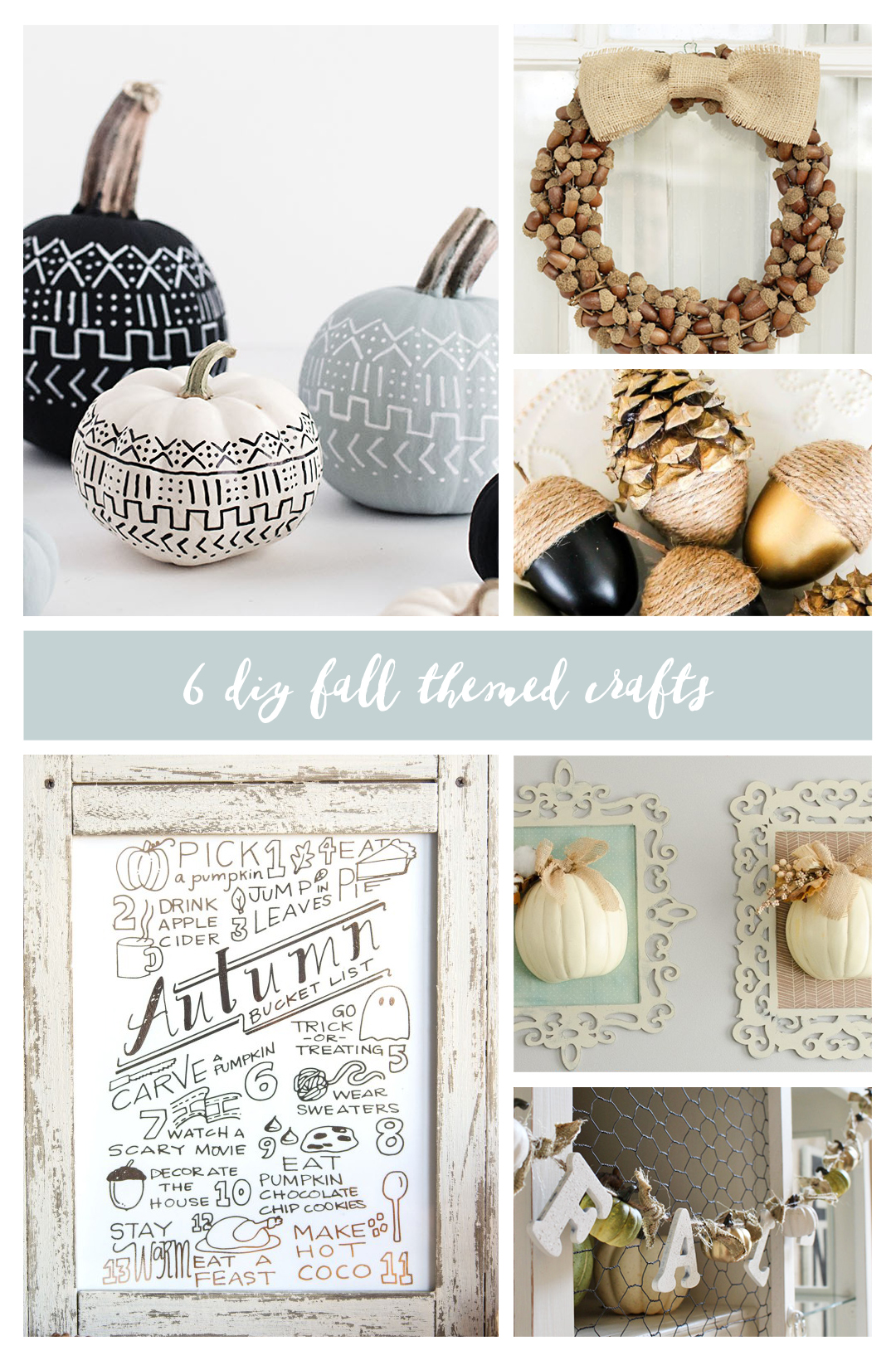 6 DIY Fall Themed Crafts