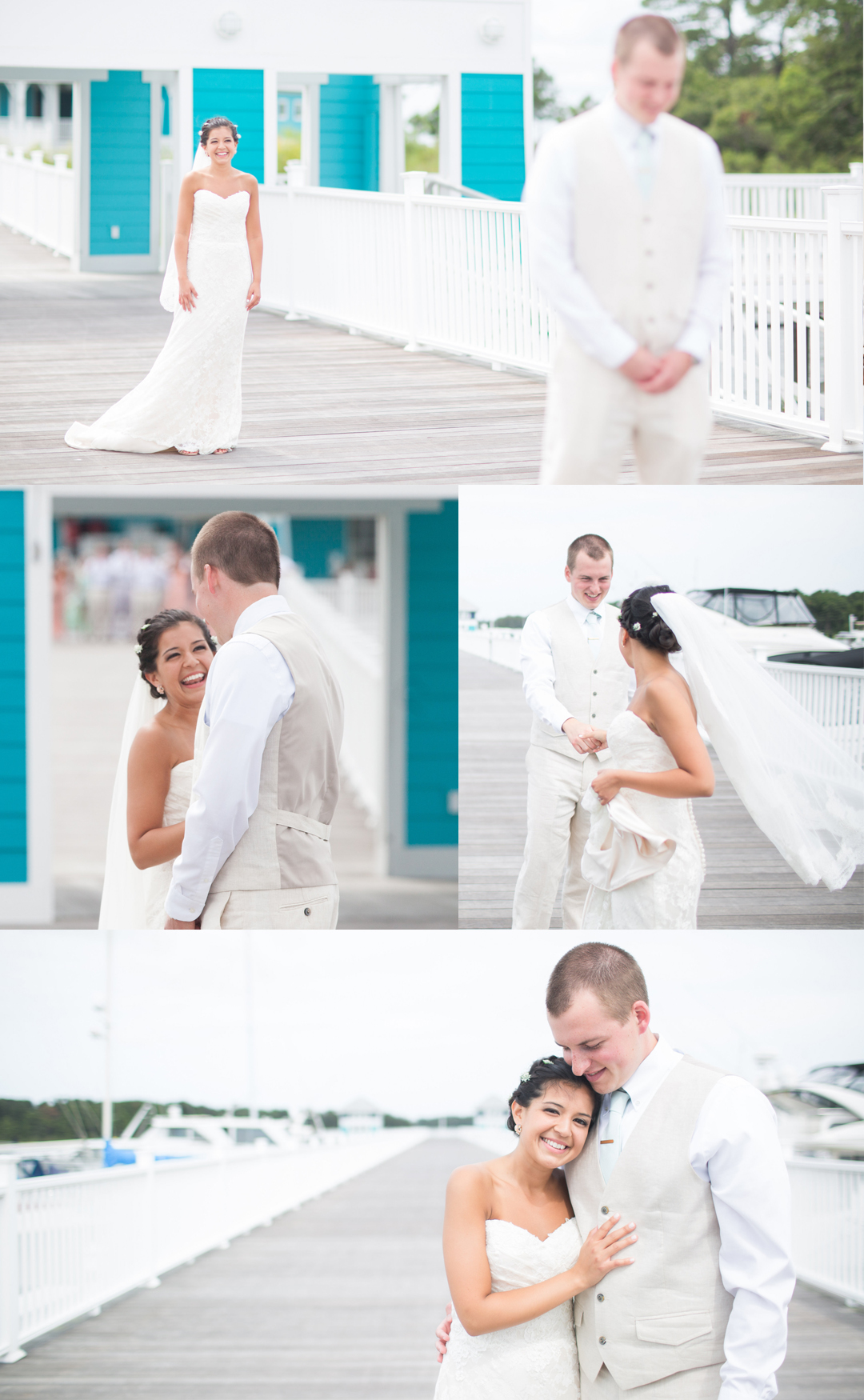 First Look // Our Wedding Story : Cape Charles, VA