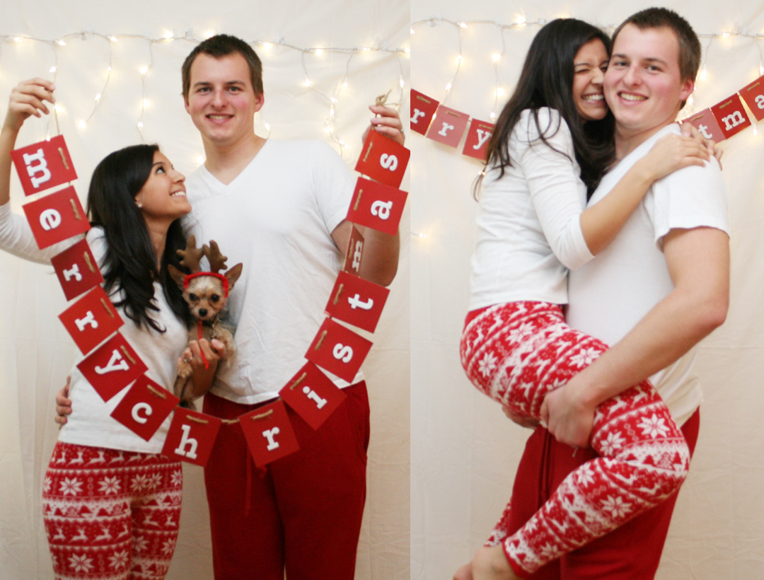 Christmas Pajamas Photoshoot.Diy Christmas Card Photoshoot