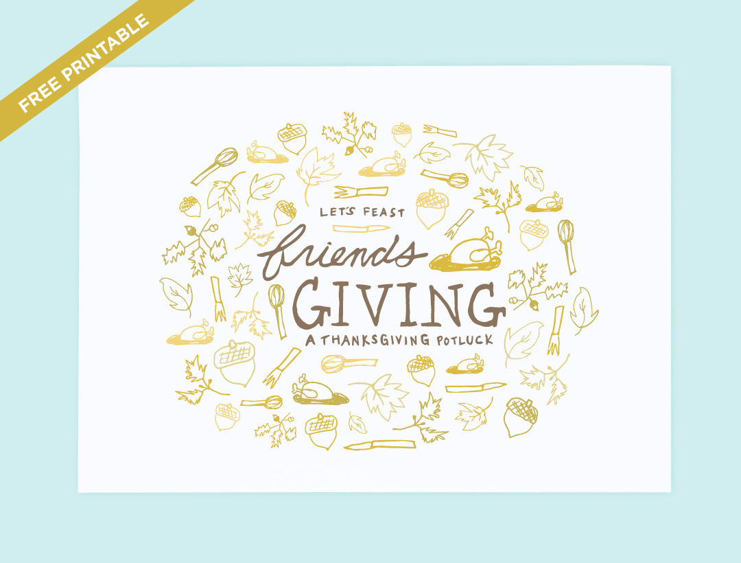 let s feast friendsgiving invitation printable