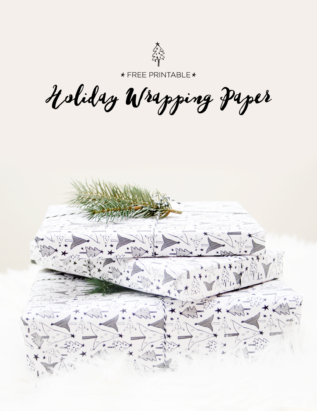 Free Printable: Holiday Wrapping Paper