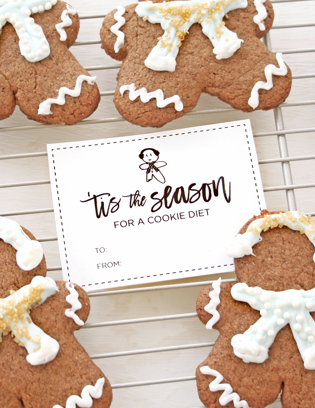 picture regarding Cookie Printable referred to as Gingerbread Cookies and Reward Tag Printable - Get pleasure from Vividly
