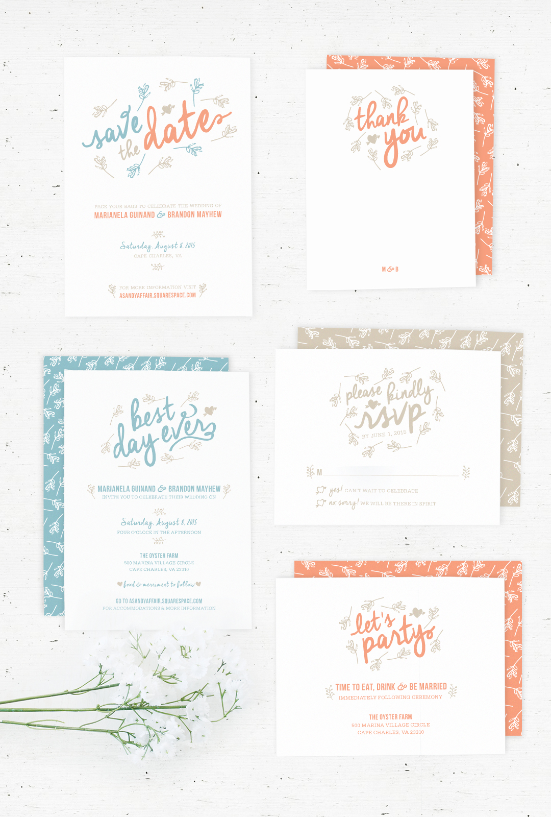 Selling on Etsy! Wedding Stationary Suite