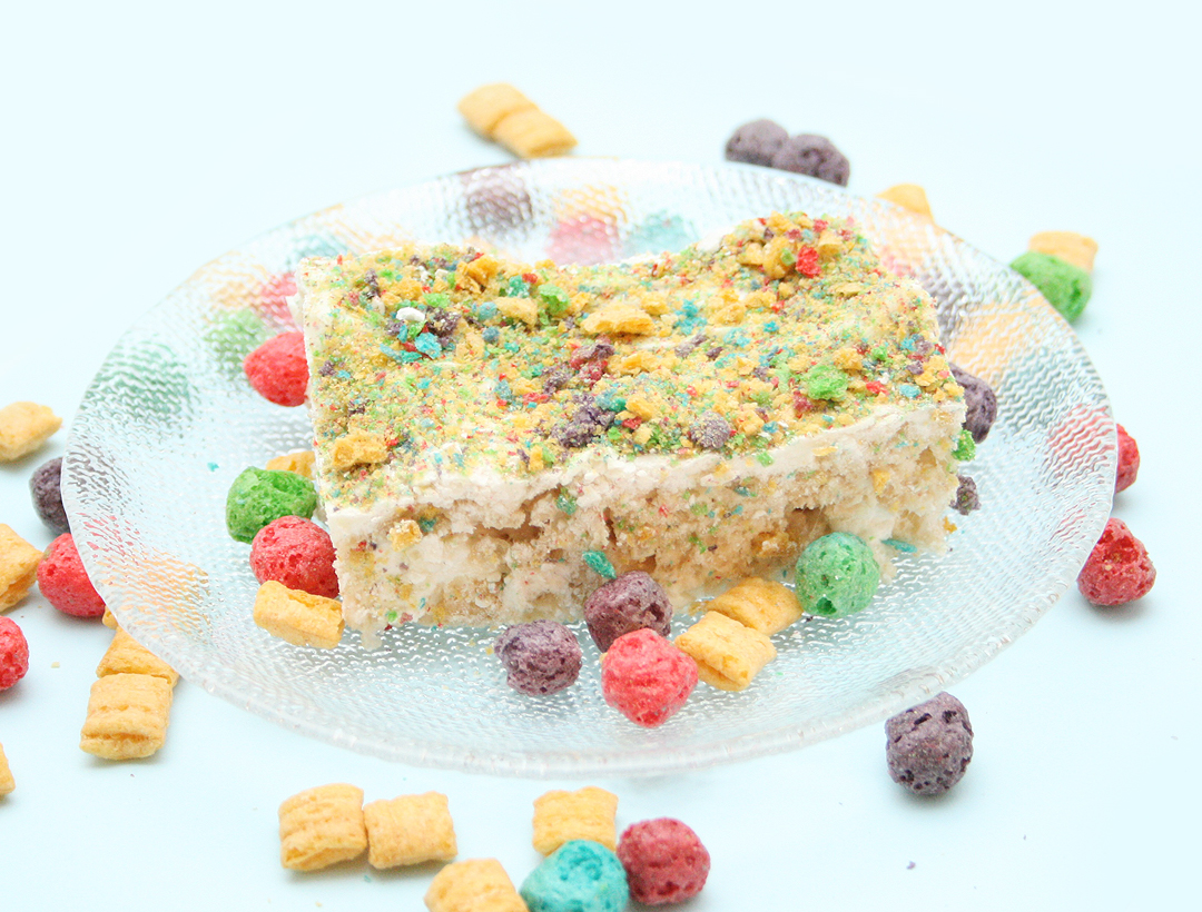 Homemade Rice Krispie Treats with Cap'n Crunch Sprinkles