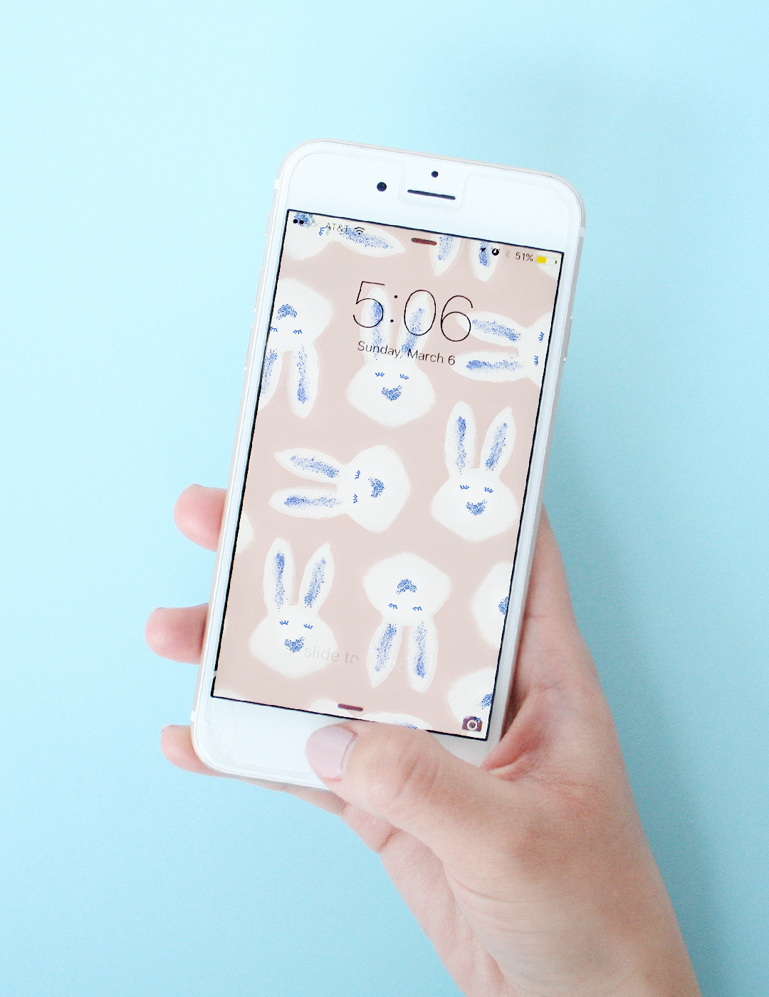 March Wallpaper Download – Bunny Hop by Love Vividly