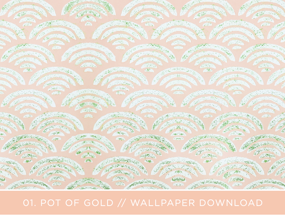 March Wallpaper Download - Pot of Gold by Love Vividly