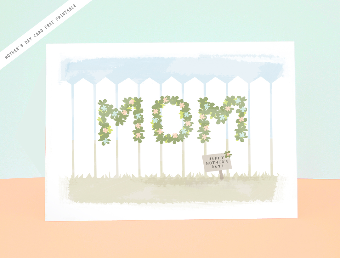 Free Printable! Mother's Day Card