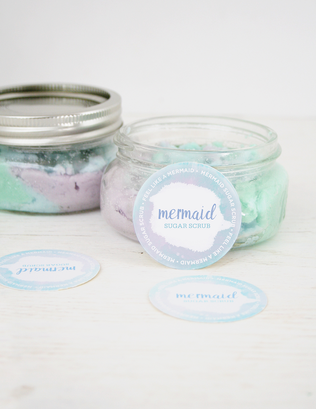 DIY Mermaid Sugar Scrub