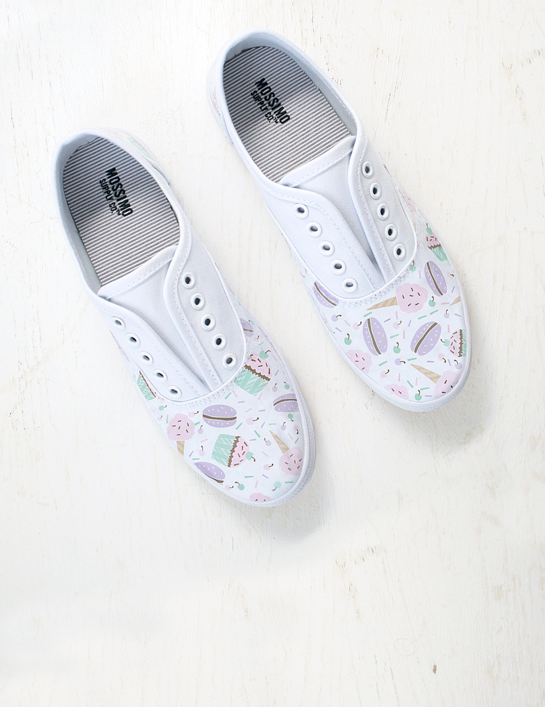 DIY This! Dessert Patterned Shoes