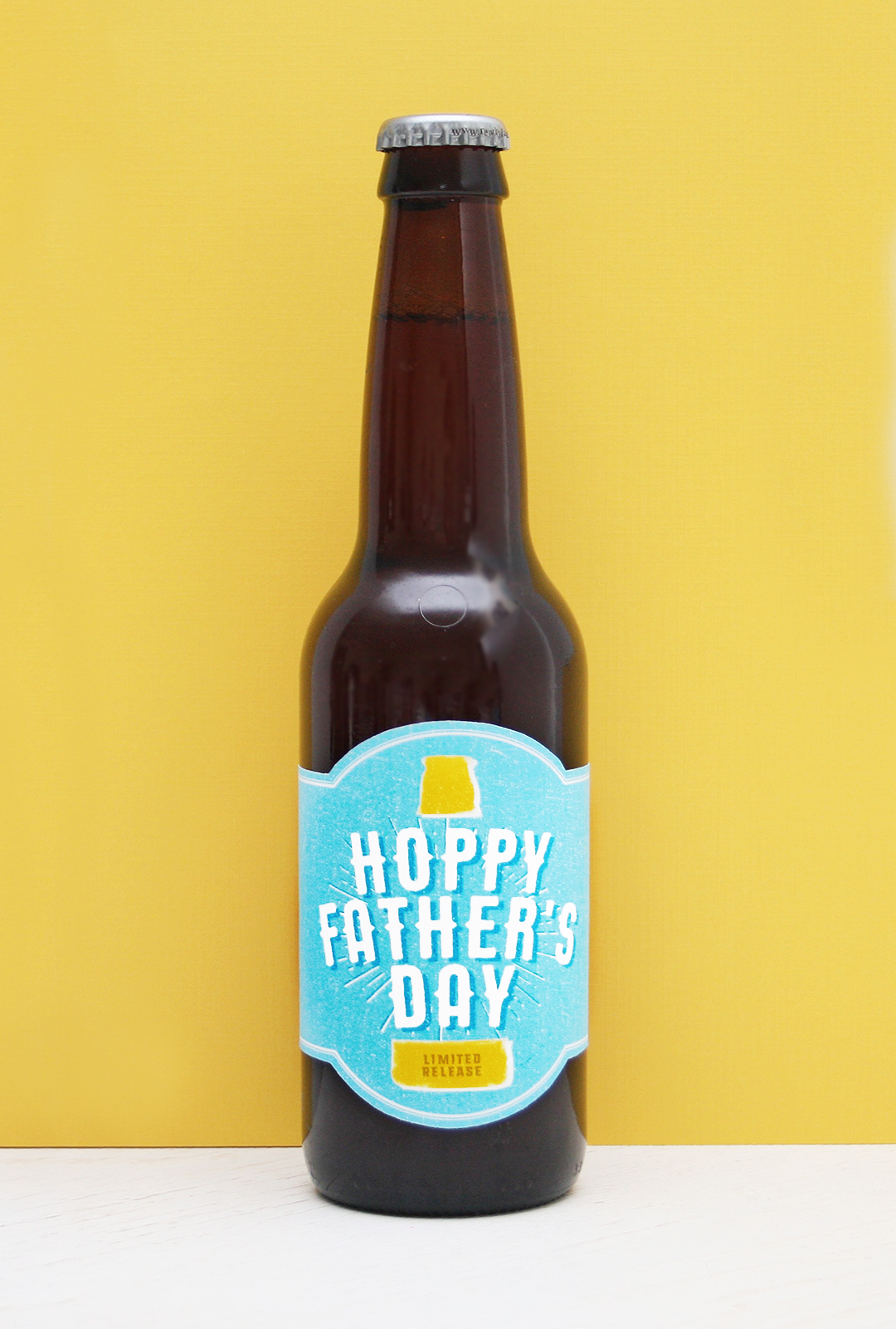 picture relating to Printable Beer Bottle Labels known as Free of charge Printable! Hoppy Fathers Working day Beer Label