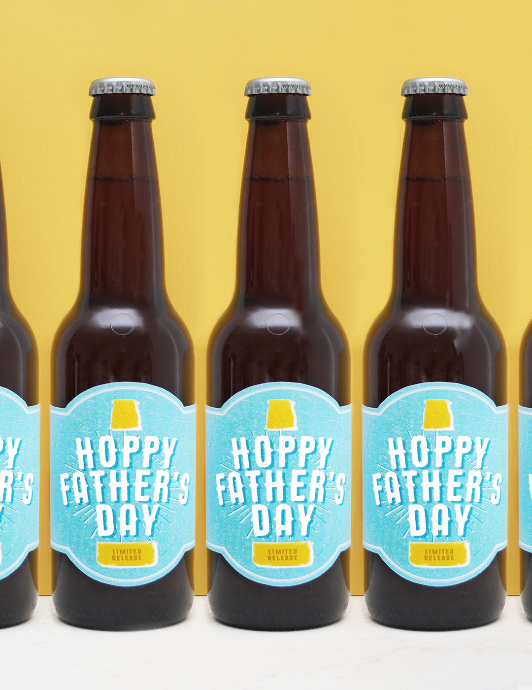 image relating to Printable Beer Labels named Free of charge Printable! Hoppy Fathers Working day Beer Label