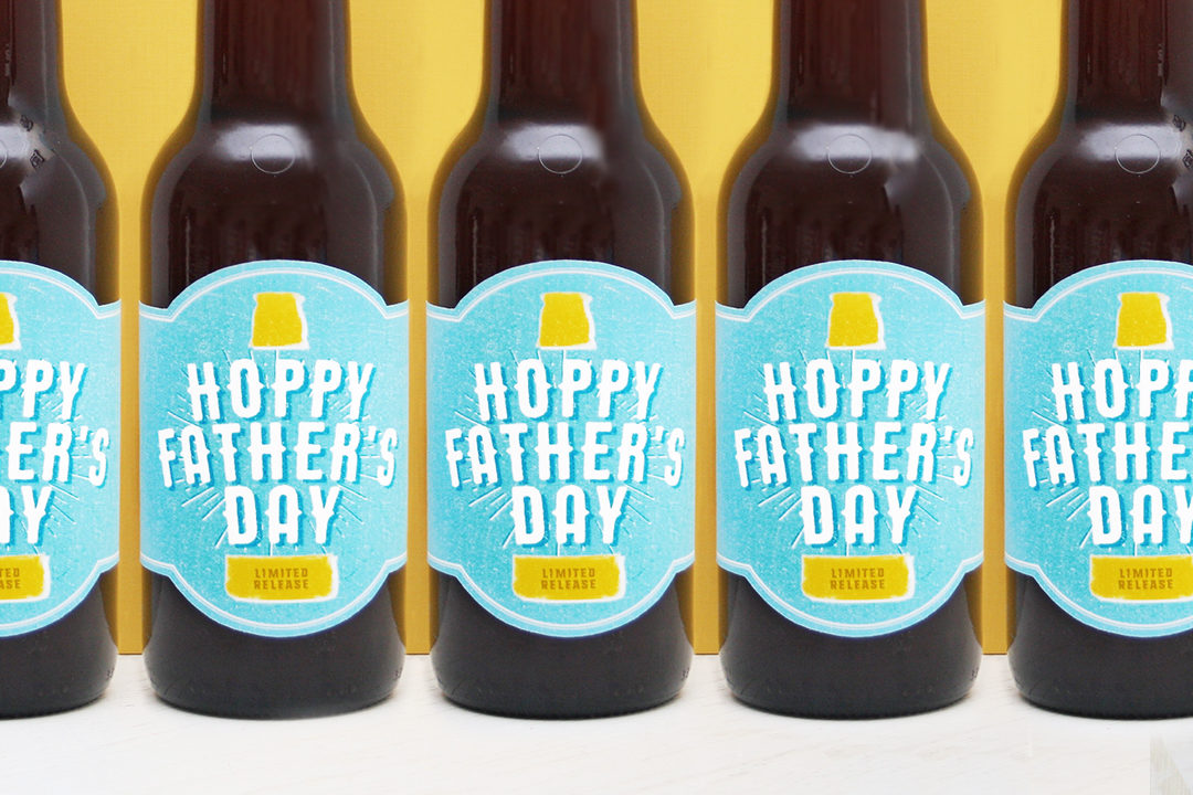 photo relating to Printable Beer Labels identified as Cost-free Printable! Hoppy Fathers Working day Beer Label