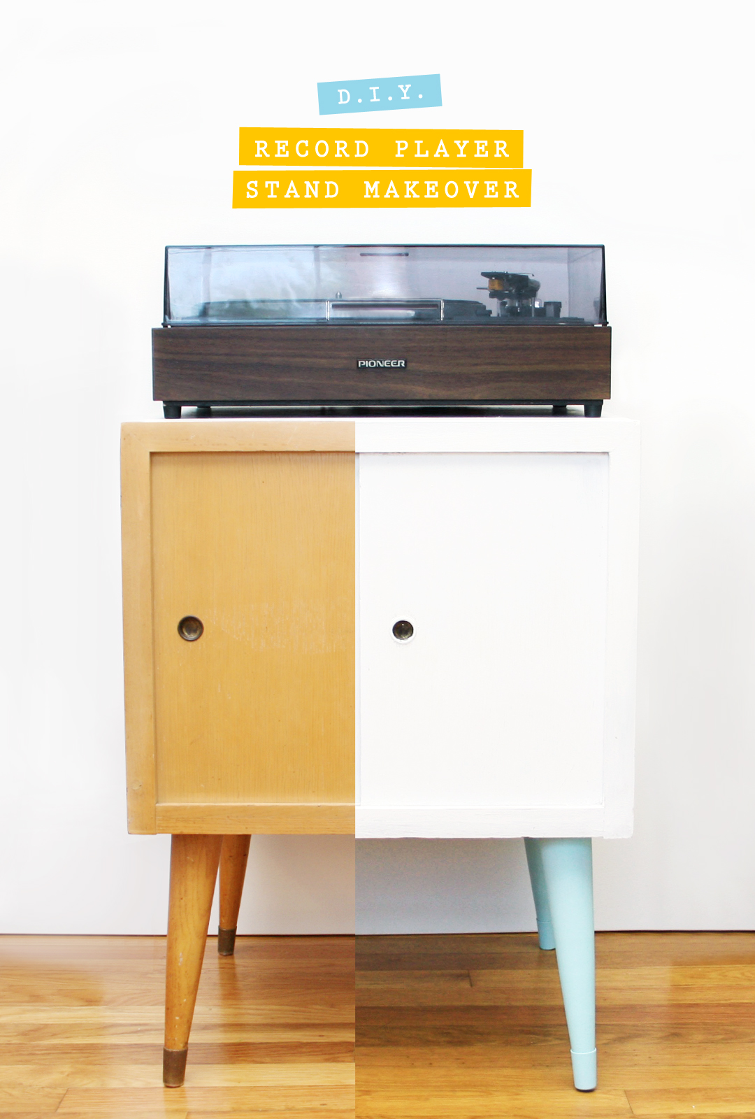 Diy Record Player Stand Makeover