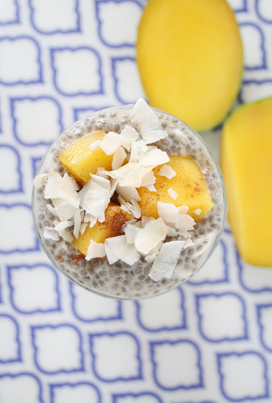 Overnight Mango And Coconut Chia Seed Pudding