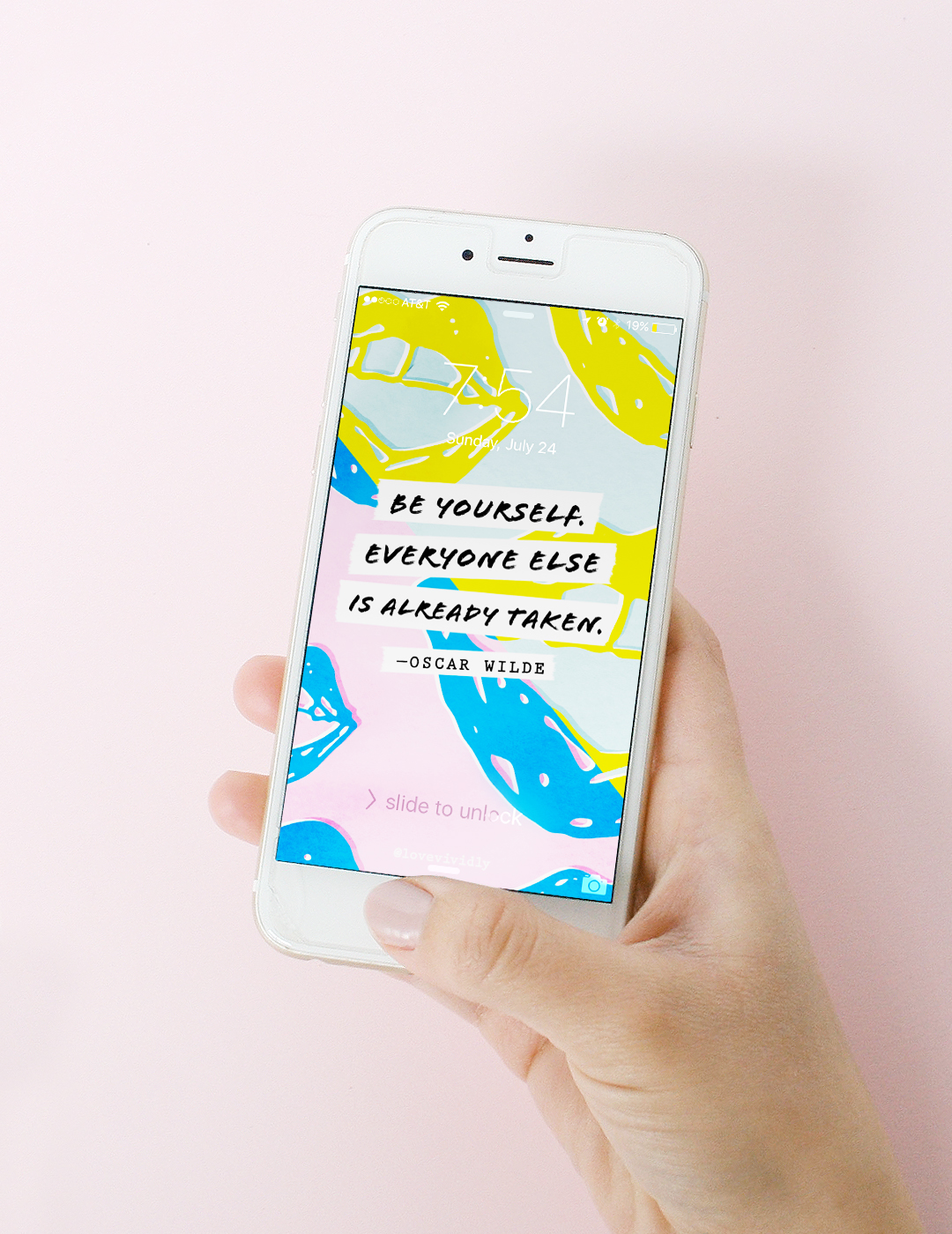 "Wallpaper ""Be Yourself"" by Love Vividly"