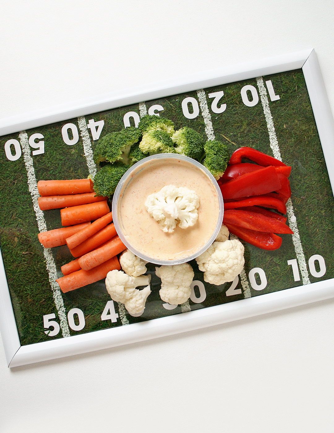 DIY Football Field Tray + Chobani Mezé Dip