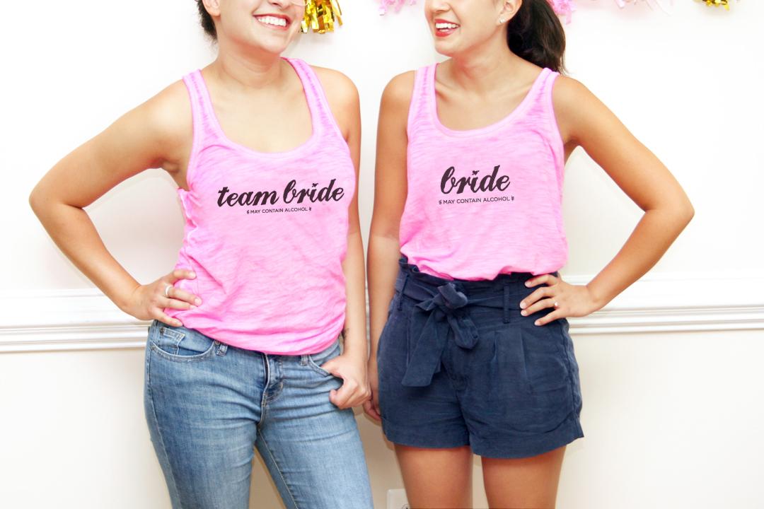 DIY Team Bride Bachelorette T-shirts